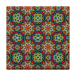 Jewel Tiles Kaleidoscope Face Towel by WolfepawFractals