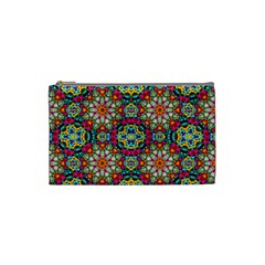 Jewel Tiles Kaleidoscope Cosmetic Bag (small)  by WolfepawFractals