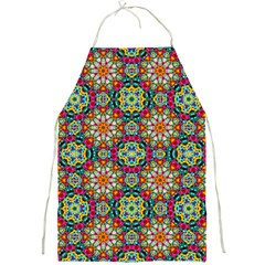 Jewel Tiles Kaleidoscope Full Print Aprons by WolfepawFractals