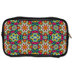 Jewel Tiles Kaleidoscope Toiletries Bags 2-side by WolfepawFractals