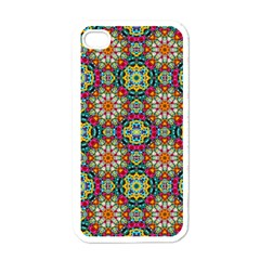 Jewel Tiles Kaleidoscope Apple Iphone 4 Case (white) by WolfepawFractals