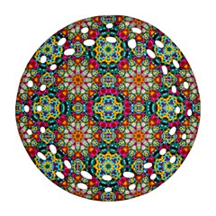 Jewel Tiles Kaleidoscope Ornament (round Filigree) by WolfepawFractals