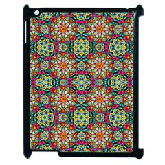 Jewel Tiles Kaleidoscope Apple Ipad 2 Case (black) by WolfepawFractals