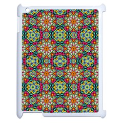 Jewel Tiles Kaleidoscope Apple Ipad 2 Case (white) by WolfepawFractals