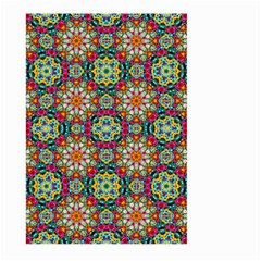 Jewel Tiles Kaleidoscope Large Garden Flag (two Sides) by WolfepawFractals