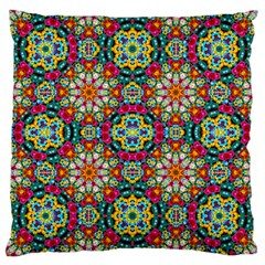 Jewel Tiles Kaleidoscope Large Cushion Case (two Sides) by WolfepawFractals