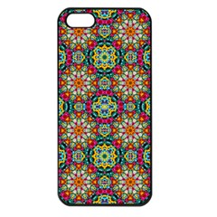 Jewel Tiles Kaleidoscope Apple Iphone 5 Seamless Case (black) by WolfepawFractals