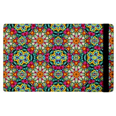 Jewel Tiles Kaleidoscope Apple Ipad 3/4 Flip Case by WolfepawFractals