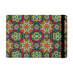 Jewel Tiles Kaleidoscope Apple Ipad Mini Flip Case by WolfepawFractals