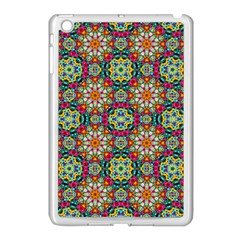 Jewel Tiles Kaleidoscope Apple Ipad Mini Case (white) by WolfepawFractals