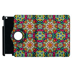 Jewel Tiles Kaleidoscope Apple Ipad 2 Flip 360 Case by WolfepawFractals