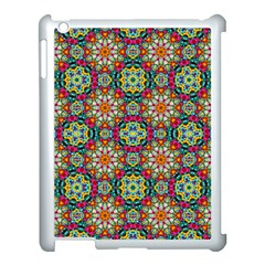 Jewel Tiles Kaleidoscope Apple Ipad 3/4 Case (white) by WolfepawFractals