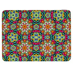 Jewel Tiles Kaleidoscope Samsung Galaxy Tab 7  P1000 Flip Case by WolfepawFractals