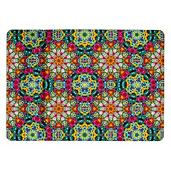 Jewel Tiles Kaleidoscope Samsung Galaxy Tab 10 1  P7500 Flip Case by WolfepawFractals
