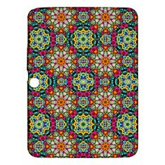 Jewel Tiles Kaleidoscope Samsung Galaxy Tab 3 (10 1 ) P5200 Hardshell Case  by WolfepawFractals