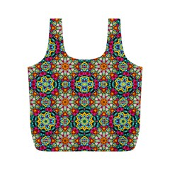Jewel Tiles Kaleidoscope Full Print Recycle Bags (m)  by WolfepawFractals