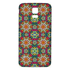 Jewel Tiles Kaleidoscope Samsung Galaxy S5 Back Case (white) by WolfepawFractals
