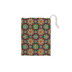 Jewel Tiles Kaleidoscope Drawstring Pouches (xs)  by WolfepawFractals
