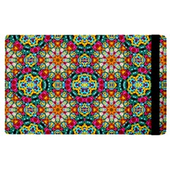 Jewel Tiles Kaleidoscope Apple Ipad Pro 12 9   Flip Case by WolfepawFractals