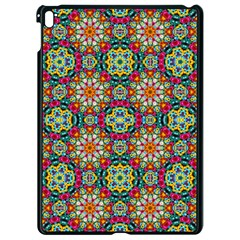 Jewel Tiles Kaleidoscope Apple Ipad Pro 9 7   Black Seamless Case by WolfepawFractals