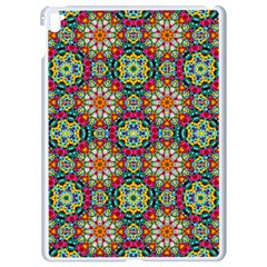Jewel Tiles Kaleidoscope Apple Ipad Pro 9 7   White Seamless Case by WolfepawFractals