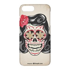 Woman Sugar Skull Apple Iphone 7 Plus Hardshell Case