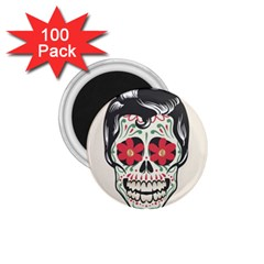 Man Sugar Skull 1 75  Magnets (100 Pack)  by LimeGreenFlamingo