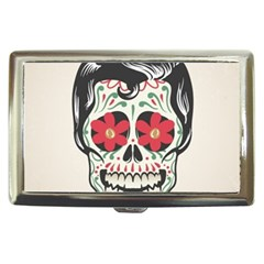 Man Sugar Skull Cigarette Money Cases by LimeGreenFlamingo