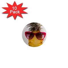 Pineapple With Sunglasses 1  Mini Magnet (10 Pack)  by LimeGreenFlamingo