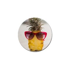 Pineapple With Sunglasses Golf Ball Marker (4 Pack) by LimeGreenFlamingo