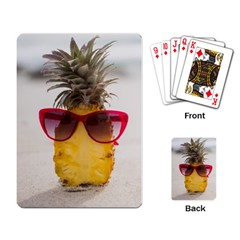 Pineapple With Sunglasses Playing Card by LimeGreenFlamingo