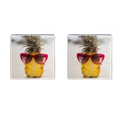 Pineapple With Sunglasses Cufflinks (square)