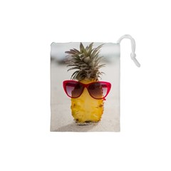 Pineapple With Sunglasses Drawstring Pouches (xs)