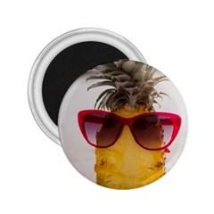 Pineapple With Sunglasses 2 25  Magnets by LimeGreenFlamingo