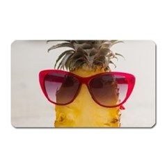 Pineapple With Sunglasses Magnet (rectangular) by LimeGreenFlamingo