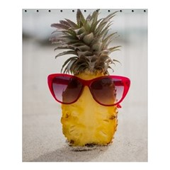 Pineapple With Sunglasses Shower Curtain 60  X 72  (medium)  by LimeGreenFlamingo
