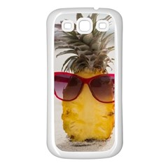 Pineapple With Sunglasses Samsung Galaxy S3 Back Case (white)