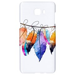 Watercolor Feathers Samsung C9 Pro Hardshell Case