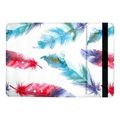 Watercolor Feather Background Samsung Galaxy Tab Pro 10 1  Flip Case by LimeGreenFlamingo