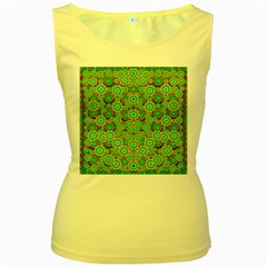 Flowers In Mind In Happy Soft Summer Time Women s Yellow Tank Top by pepitasart