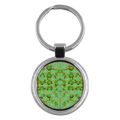 Flowers In Mind In Happy Soft Summer Time Key Chains (round)  by pepitasart