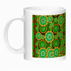 Flowers In Mind In Happy Soft Summer Time Night Luminous Mugs by pepitasart