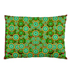 Flowers In Mind In Happy Soft Summer Time Pillow Case (two Sides) by pepitasart
