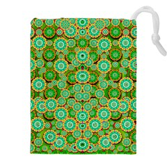 Flowers In Mind In Happy Soft Summer Time Drawstring Pouches (xxl) by pepitasart