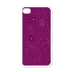 Awesome Allover Stars 01e Apple Iphone 4 Case (white) by MoreColorsinLife