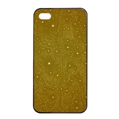 Awesome Allover Stars 01c Apple Iphone 4/4s Seamless Case (black) by MoreColorsinLife