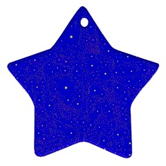 Awesome Allover Stars 01f Star Ornament (two Sides) by MoreColorsinLife
