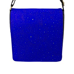 Awesome Allover Stars 01f Flap Messenger Bag (l)  by MoreColorsinLife