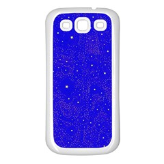Awesome Allover Stars 01f Samsung Galaxy S3 Back Case (white) by MoreColorsinLife
