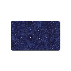 Awesome Allover Stars 01b Magnet (name Card) by MoreColorsinLife